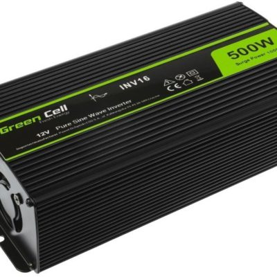 Green Cell Przetwornica Green Cell 12V na 230V Czysta sinusoida 500W GREEN CELL INV16 INV16