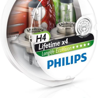 Philips H4 12V 60/55W P43t-38 LongLife EcoVision