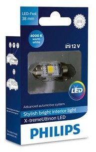 Philips Philips Żarówka C5W Festoon LED 4000K 38mm X-treme 0703412
